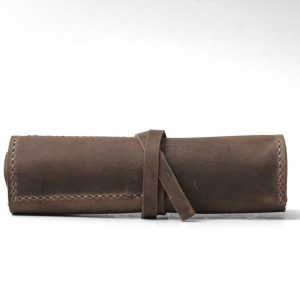 Distressed-Leather-Roll-Pencil-Case-
