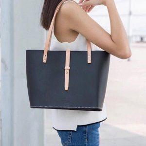 Leather Shoulder Bag for Women, Genuine Leather Arm Bag, Hand Bag For Women / Black - Genuine Leather Arm Bag - Handmade item - Stylish Leather Bag for Women