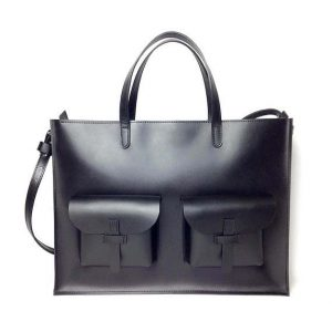 Leather Bag, leather briefcase, Plain Leather Briefcase, Black, Plain Document Bag