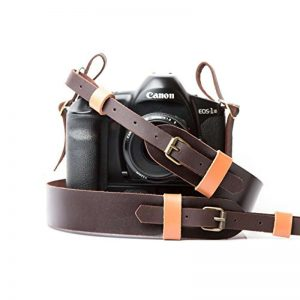 Leather Camera Neck Strap, Brown