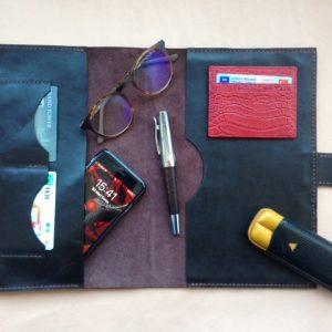 Leather Organiser, Multifunctional Organiser, Credit Card Holder, Passport Cover, Leather iPad Case