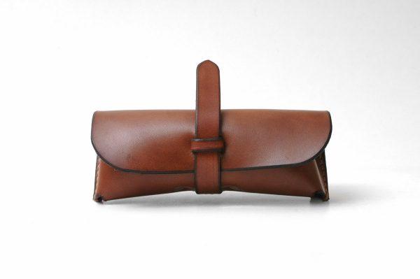 Leather Sunglasses Case, Leather Eyewear Case,Eyeglasses Sleeve / Brown - Genuine Leather, - Handmade, - %100 Vegetable Leather - Multifunctional Bag
