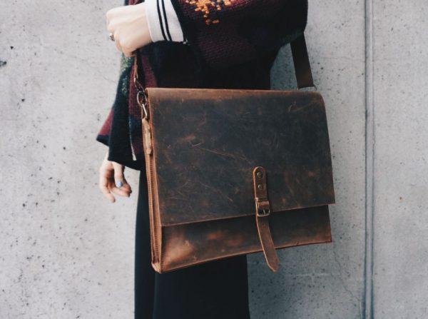 Vintage Laptop Bag, Rustic Leather Bag, Leather Laptop Bag, Brown