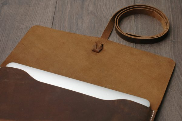 Leather MacBook Case, Genuine Leather Macbook Bag & Laptop Cover / Crazy Brown