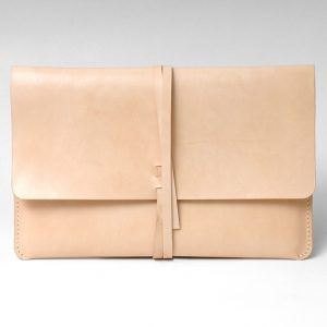 Leather MacBook Case, Genuine Leather Slim Macbook & Laptop Case / Beige - Genuine Leather - Vegetable  Genuine Leather