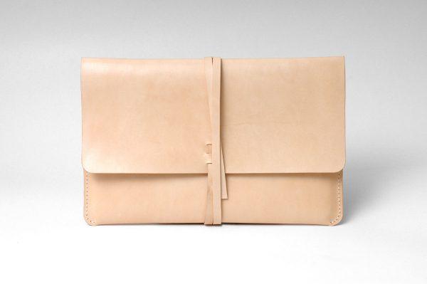 Leather MacBook Case, Genuine Leather Slim Macbook & Laptop Case / Beige - Genuine Leather - Vegetable Genuine Leather