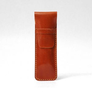 Leather Pencil Case Cognac Tan