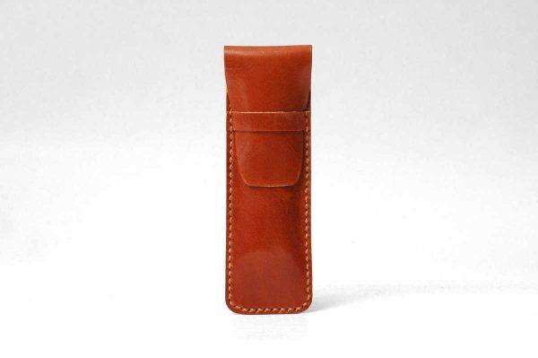 Leather Pencil Case Cognac Tan
