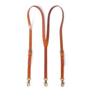 Leather Suspenders for Men, Wedding Groomsmen Suspenders, Tan Brown