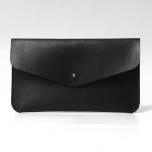 Leather Clutch, Evening Bag, Minimal Simple Design Clutch