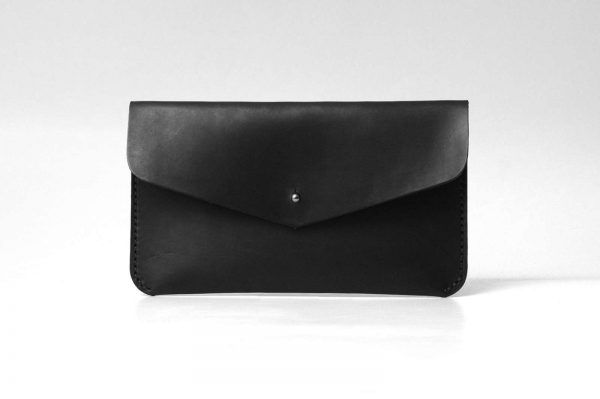 Leather Clutch, Evening Bag, Minimal Simple Design Clutch