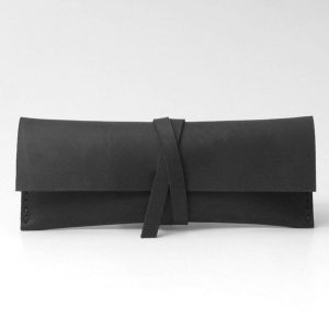 Leather Pencil Case, Leather Pen Case, Personalised Gift / Black - Personel Leather Gift Pencil Case - Handmade Leather Pen Case