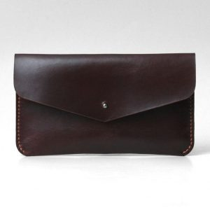 Leather Clutch, Evening Bag, Minimal Simple Design Clutch, Brown