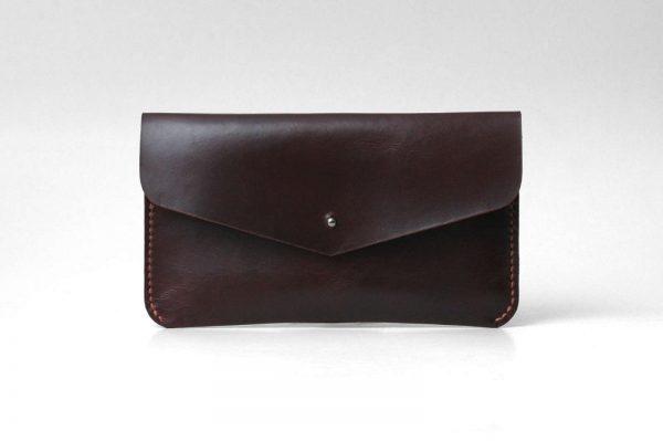 Leather Clutch, Evening Bag, Minimal Simple Design Clutch, Brown